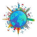 Time To Travel - Flat Design Travel Composition Royalty Free Stock Photos - 89870758