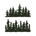 Tree Outdoor Travel Black Silhouette Coniferous Natural Badge, Tops Pine Spruce Branch Cedar And Plant Leaf Abstract Royalty Free Stock Photo - 89887535