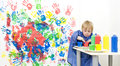Getting Finger Paint Stock Images - 8997594