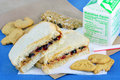 Peanut Butter And Jelly Sandwich Bag Lunch Royalty Free Stock Images - 8999269