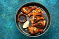Baked Chicken Drumsticks With Soy Sauce Stock Image - 89908311