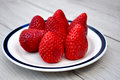 Strawberries On A Plate Royalty Free Stock Photo - 89916205