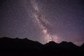 Milky Way Over Glacier National Park Royalty Free Stock Photo - 89917305