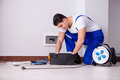 The Man Doing Electrical Repairs At Home Royalty Free Stock Images - 89925629