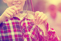 Teenager Boy Holding Catch Fish On Hook Stock Images - 89938794