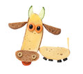 Cow Made Of Black Bread And Cheese Royalty Free Stock Image - 89942256