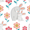Pattern With Rabbits Stock Photos - 89947433