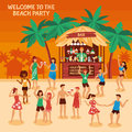 Beach Party Illustration Royalty Free Stock Images - 89953149