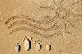 Feet Of A Family Of Stones On The Sea Royalty Free Stock Images - 89953799