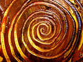 Unique Painted Spiral Patterns Stock Photo - 90880