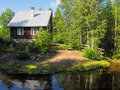 Little House In Birch Forest Royalty Free Stock Photography - 9005307