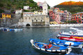 Boats, Vernazza, Cinque Terra, Italy Royalty Free Stock Images - 90005079