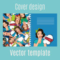Cover Design With Popart Women Pattern Royalty Free Stock Photo - 90013335