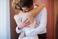 Female And Male Portrait. Lady And Guy Outdoors.Wedding Couple In Love, Close-up Portrait Of Young And Happy Bride And Groom At We Stock Photos - 90026203