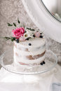Wedding Cake With Flowers Stock Images - 90063164