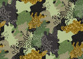 Camouflage Seamless Pattern. Royalty Free Stock Photos - 90065918