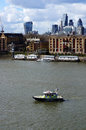 Police Boat On River Thames Stock Photos - 90068163