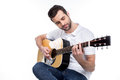 Young Man With Guitar Royalty Free Stock Photography - 90102667