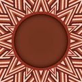 Stylish Dark Brown Round Text Or Photo Frame On Decorative Background Of Brown Shades Royalty Free Stock Photography - 90114947