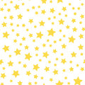 Seamless Pattern With Yellow Stars On White Background. Vector Royalty Free Stock Photo - 90122955