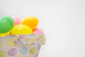 Colorful Easter Eggs In Basket Royalty Free Stock Photo - 90131925