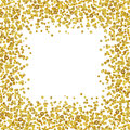 Background With Scattered Gold Confetti Frame Royalty Free Stock Photo - 90145225