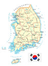South Korea - Detailed Topographic Map - Illustration Stock Photography - 90165072