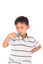 Little Asian Boy Brush Teeth Royalty Free Stock Images - 90190129