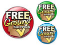 Free Ground Shipping Icons Sets Stock Photos - 9024753