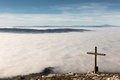 Cross And Sea Of Fog Royalty Free Stock Image - 90201566