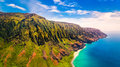 Aerial Landscape View Of Spectacular Na Pali Coast, Kauai Royalty Free Stock Photography - 90240847