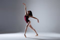 Ballerina Dancing In The Darkness Stock Photography - 90244672