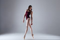 Ballerina Dancing In The Darkness Royalty Free Stock Image - 90245136