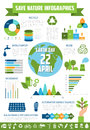 Save Nature Infographic For Earth Day Design Stock Image - 90257661