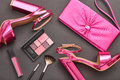 Fashion Cosmetic Makeup. Design Woman Accessories Stock Image - 90272841