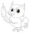 Animal Outline For Cute Owl Stock Photography - 90286322