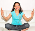Girl Doing Yoga Royalty Free Stock Images - 9033769