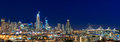 San Francisco Skyline Night Panorama With City Lights, The Bay B Stock Images - 90302784