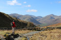 Male Walker On Mountain Footpath In Lake District Stock Images - 90318344