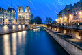Star Trail At Notre Dame Stock Photo - 90318980