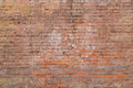 Very Old Clay Brick Wall Of Red-brown Color Royalty Free Stock Image - 90324476