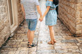 Bride And Groom Holding Hands Stock Image - 90329111