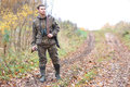 Man Hunter Outdoor In Autumn Hunting Stock Photography - 90347692