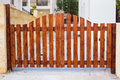 Wooden Gate Design, Outdoor Day Light Royalty Free Stock Image - 90365106