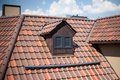 Detail Of Overlapping Roofing Tiles On A New Build Royalty Free Stock Image - 90374916