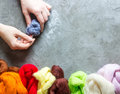Wool For Felting Stock Photos - 90375673