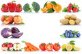 Fruits And Vegetables Copyspace Frame Border Copy Space Apple Or Stock Image - 90379891