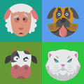 Cute Animals Emotions Icons  Fun Set Face Happy Character Emoji Comic Adorable Pet And Expression Smile Royalty Free Stock Photography - 90401007