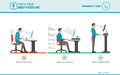 Correct Sitting Posture At Desk Stock Photography - 90415832