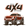Off-road Monster Truck Pickup Illustration Royalty Free Stock Image - 90430736